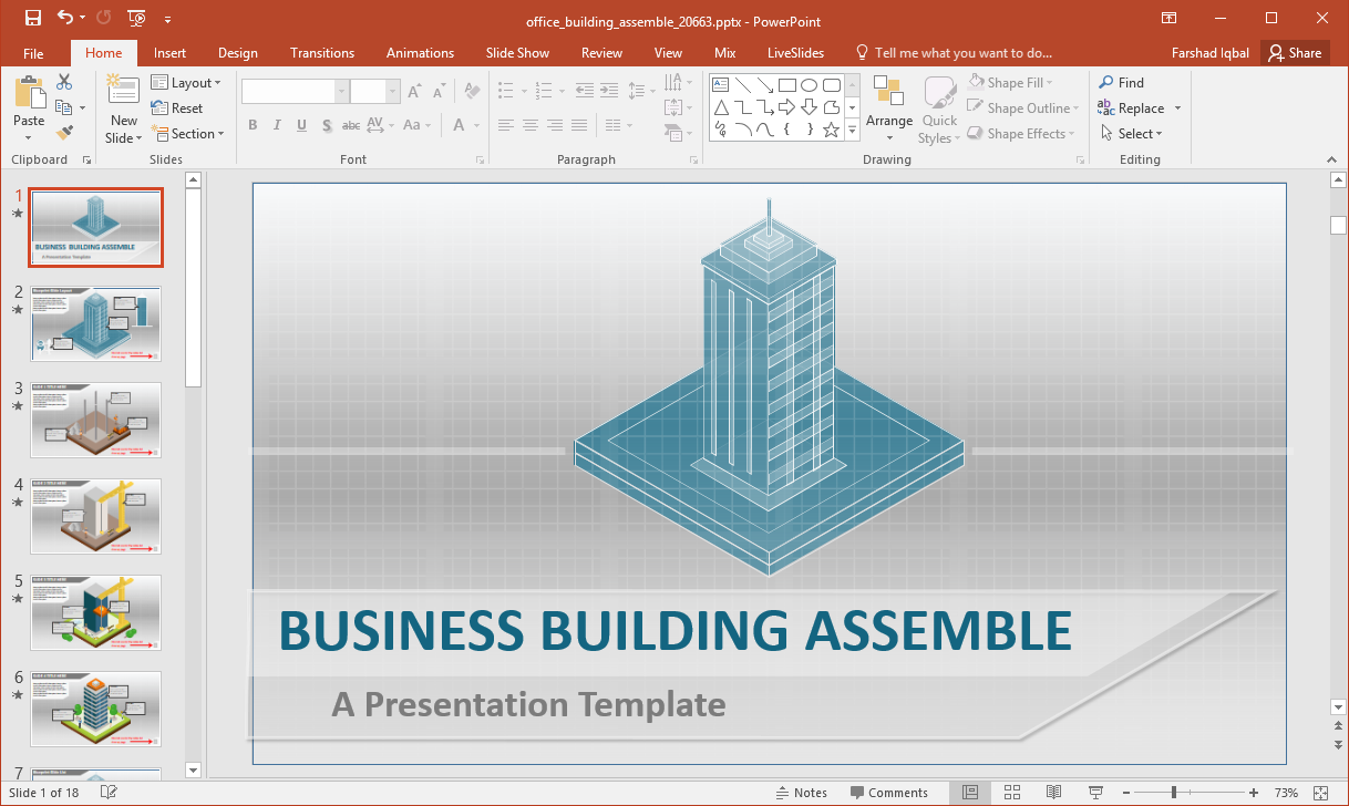 business office building powerpoint template