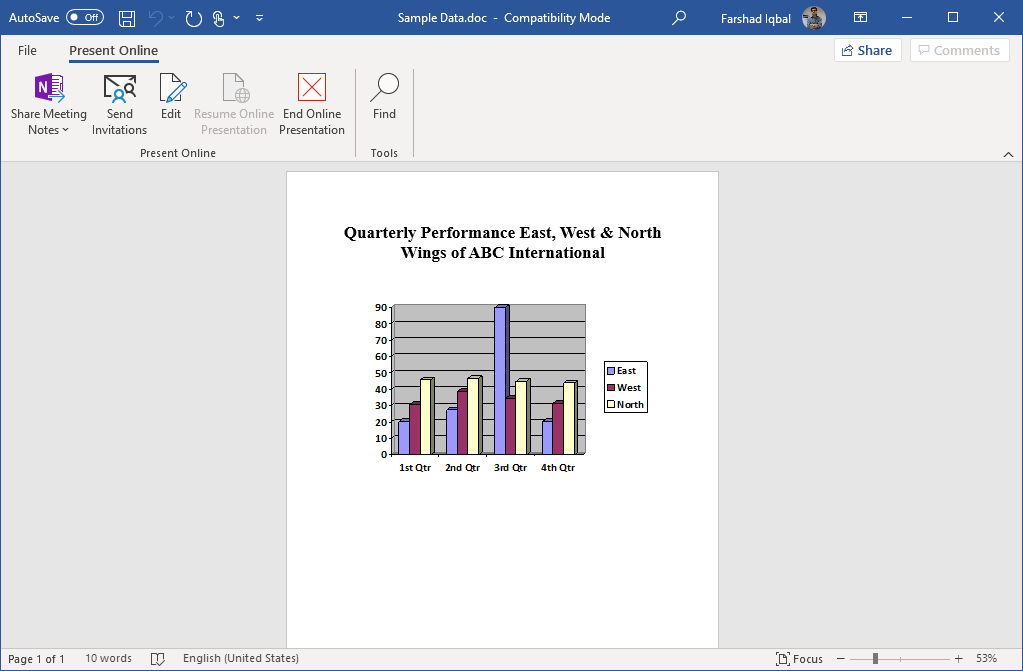 online presentation options for a word document