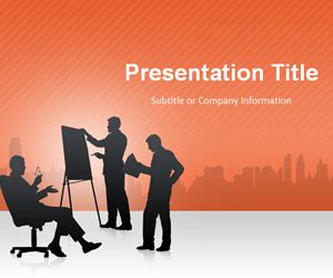 Business Conference Orange PowerPoint Template