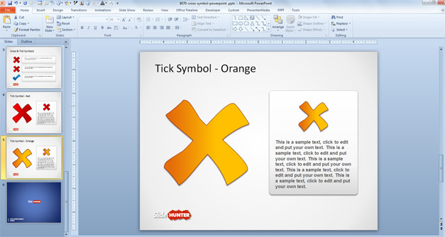 Cross Symbol picture for PowerPoint
