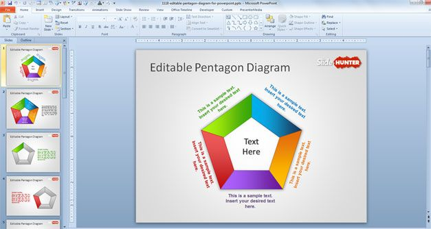pentagon powerpoint template free download