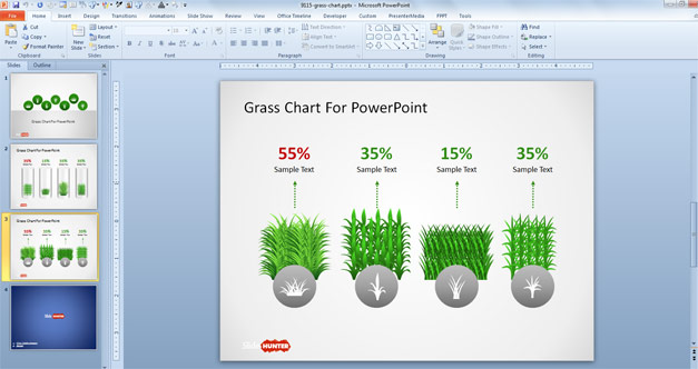 Creative Slide Design with Chart for PowerPoint