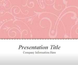 Vintage Floral Pink PowerPoint Template