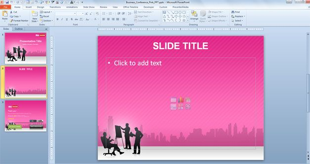 pink powerpoint template
