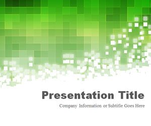 Pixels Green PowerPoint Template