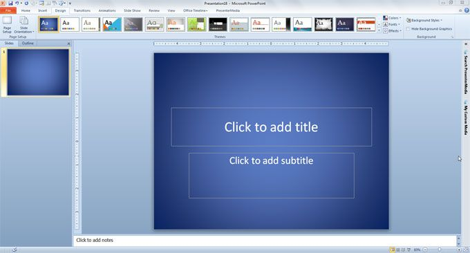 Backgrounds for PowerPoint design template