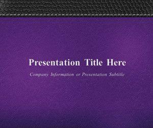 Leather PowerPoint Template