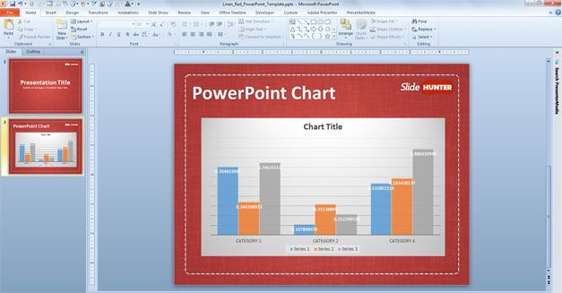 powerpoint chart example