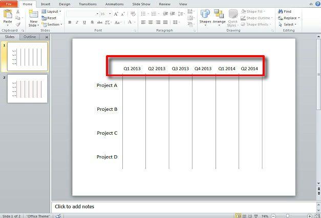 Gantt charts PowerPoint template