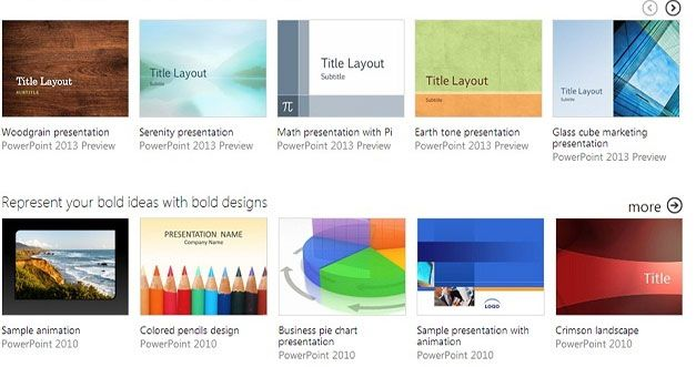 Good New Presentation Templates in PowerPoint 2013