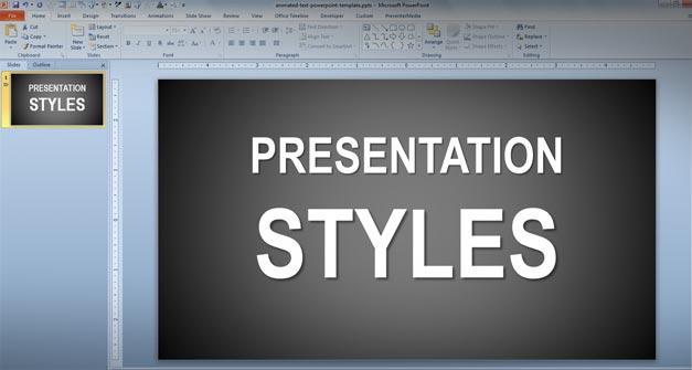 Presentation Styles techniques powerpoint