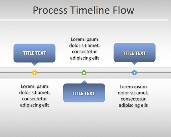 Simple Process Timeline Chart Template for PowerPoint