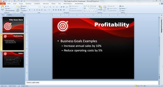 goals powerpoint templates