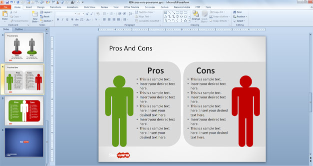 Pros & Cons PowerPoint Template