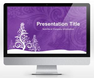 Purple Christmas PowerPoint Template