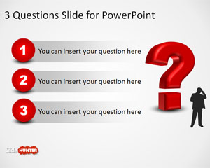 3D Question Mark Template for PowerPoint