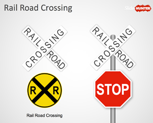 Railroad Crossing Sign for PowerPoint