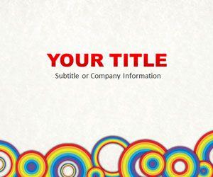 Rainbow Circles PowerPoint Template
