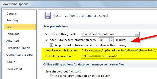 find unsaved powerpoint files