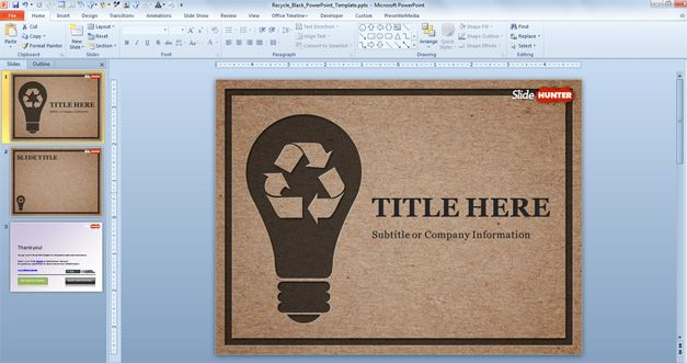 social responsibility powerpoint template recycle