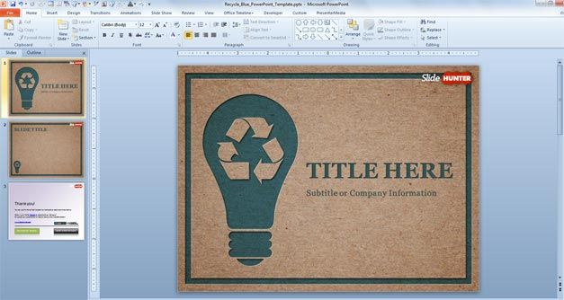 Free Recycle PowerPoint Template