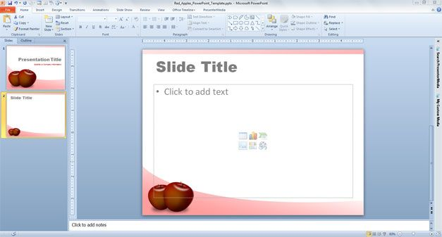Red Apples PowerPoint Template PPT template