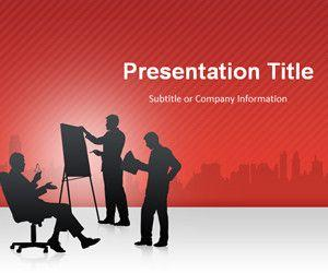 Red Business Conference PowerPoint Template