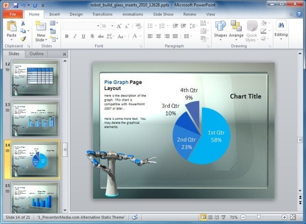 robot template for PowerPoint