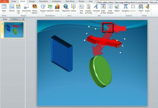 rotate shapes in powerpoint