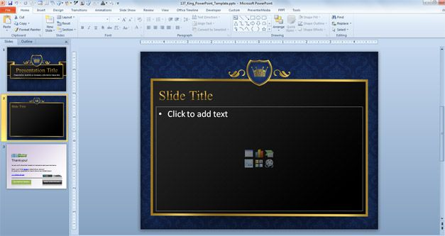 Free King PowerPoint Template
