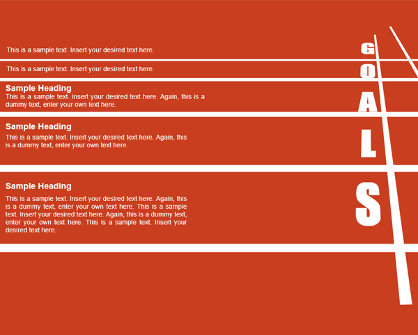 Running Lane Goals PowerPoint Template