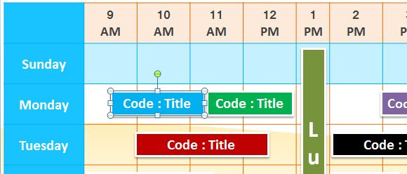 Schedule plan template for PowerPoint with Time Sheet
