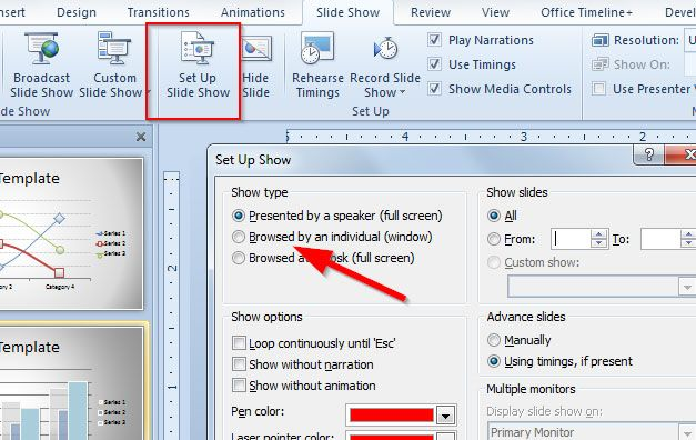 How to Play a PowerPoint Presentation in a Normal Window instead of Full Screen