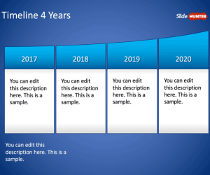 Timeline 4 Years PowerPoint Template