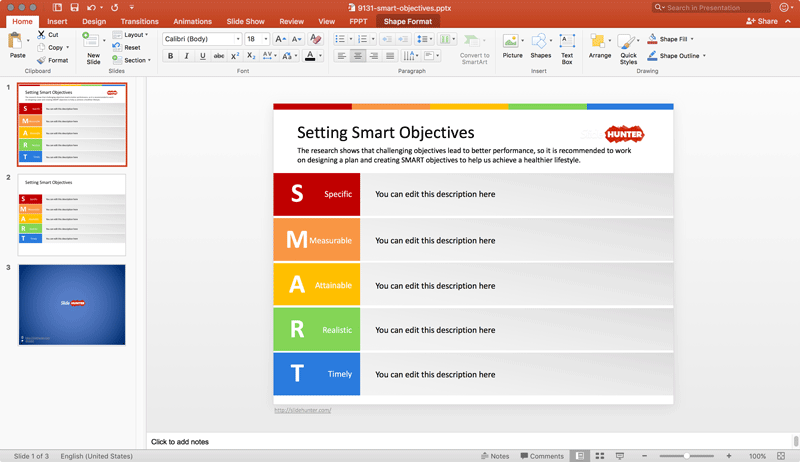 Setting SMART Goals and Objectives for PowerPoint