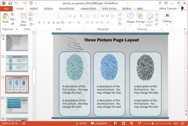 smartart graphics with fingerprint image