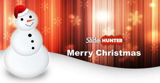 Merry Christmas template for PowerPoint 2013 and Snowman picture