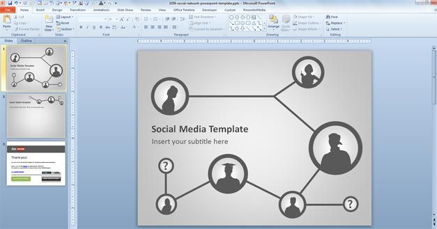 social media planning template for powerpoint free