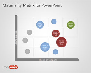 Corporate Governance Materiality Matrix for PowerPoint