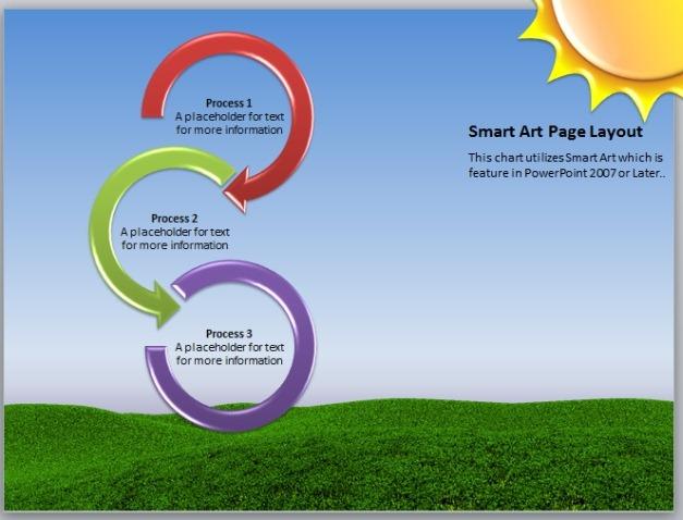 spring themed smartart