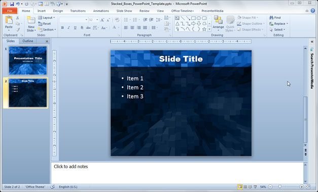 Stacked Boxes PowerPoint Template