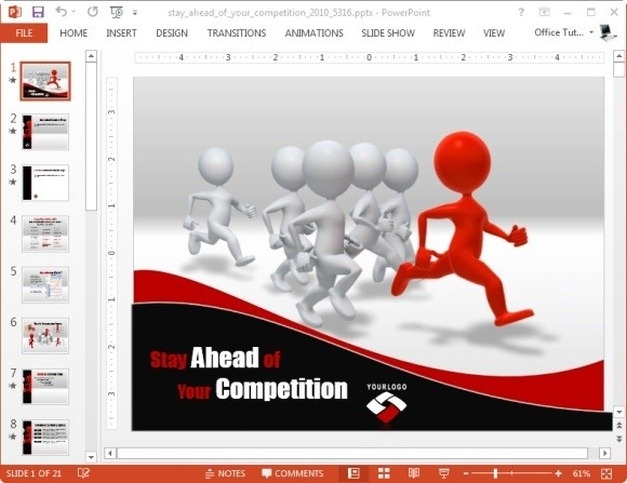 stay ahead of your competition template for powerpoint template