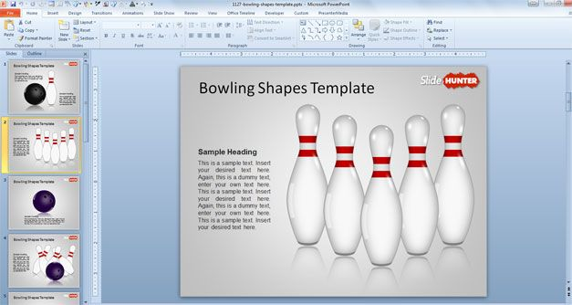 strike powerpoint template bowl ppt