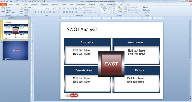 Plantilla PowerPoint de Análisis FODA