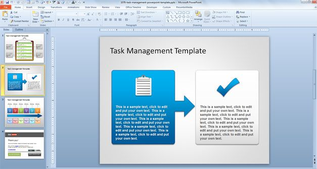 task management powerpoint template