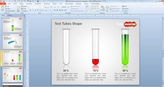 Free Test Tubes PowerPoint Shape