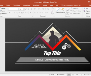 the new black powerpoint template