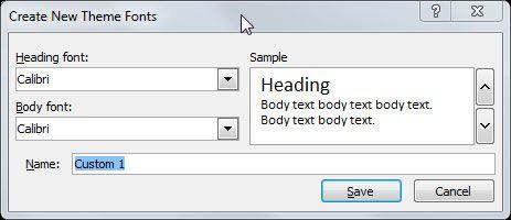theme fonts