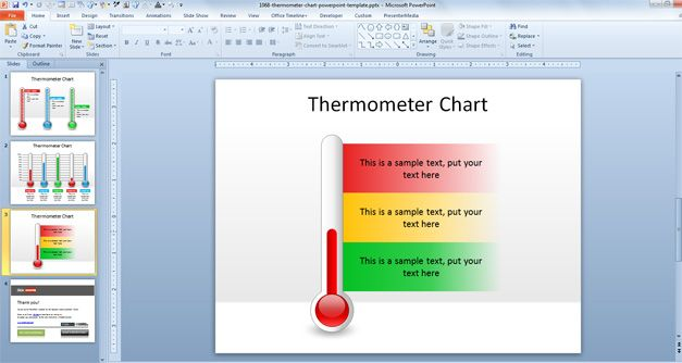 Free Thermometer Chart PowerPoint Template