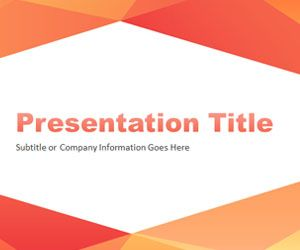 Abstract Angled PowerPoint Template 02